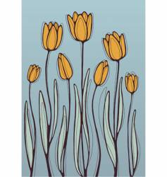 orange tulips vector image