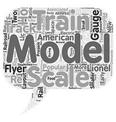 S Scale Model Trains text background wordcloud vector image vector image