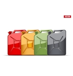 Set of fuel container jerrycan gasoline canister vector