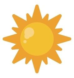 sun energy natural symbol design vector image