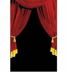 theatrical curtains vector image