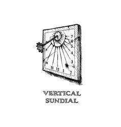 vertical sundial vector image vector image