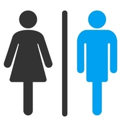 WC Persons Flat Icon vector image vector image