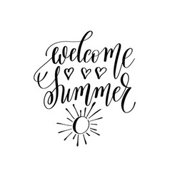 welcome summer inspirational quote about summer vector image vector image