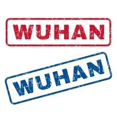 Wuhan rubber stamps vector