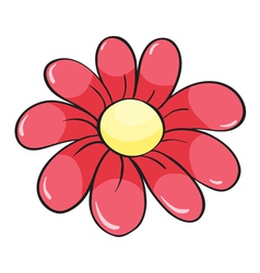 a red flower vector image