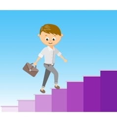 Flat style stairway to success vector