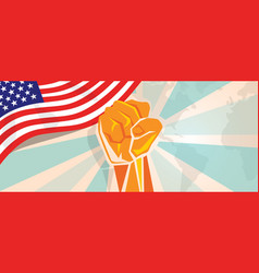 Usa united states of america fight and protest vector