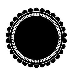 Round label sticker emblem decoration pictogram vector
