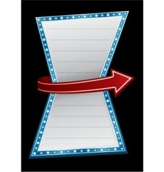 Entry neon vector image