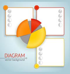 Business pie chart template vector