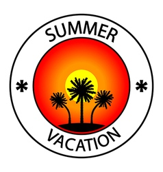 Summer vacation stamp vector