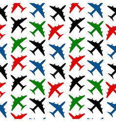Plane seamless pattern vector