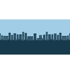 Background city buildings vector