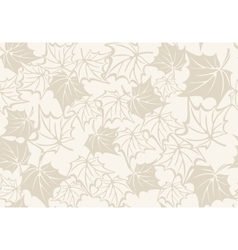 Autumn seamless pattern with leaves of maple vector