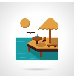 Sea leisure flat color icon vector