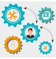Business people work graphic vector
