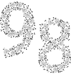 Ornamental number 89 vector