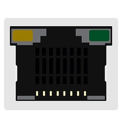 Network ethernet port vector