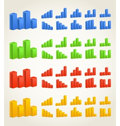 Color charts vector image