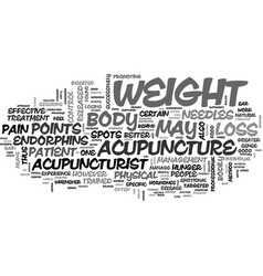 Acupuncture for effective weight loss text word vector