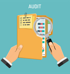 auditing tax process accounting concept vector image
