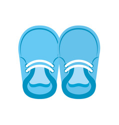 baby booties for boy child cute image vector image