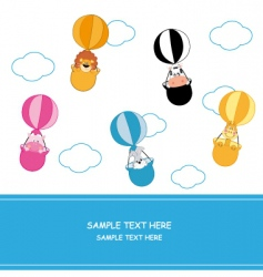balloon animals vector image vector image
