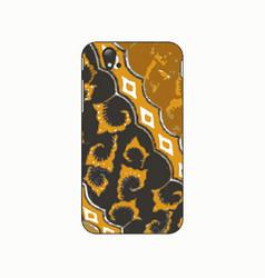 batik phonecase 5 vector image vector image