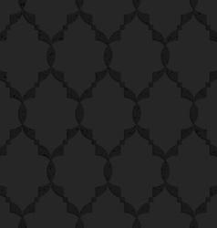 Black textured plastic islamic grid vector
