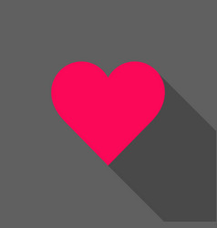bright heart with shadow vector image vector image