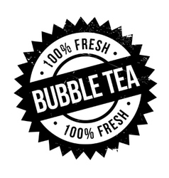 Bubble tea stamp vector
