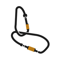 Camping equipment carabiners isolated vector