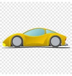 Cartoon yellow sportscar vector