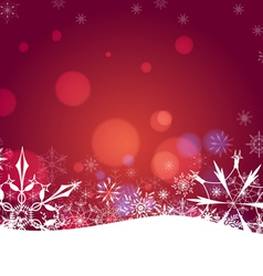 Christmas abstract snowflakes background vector