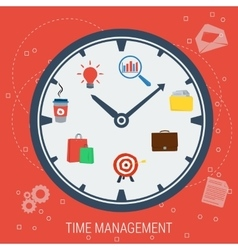 Clock - concept time management vector image vector image