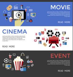 Digital black blue cinema vector