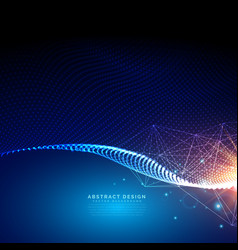 Digital futuristic background made with particles vector