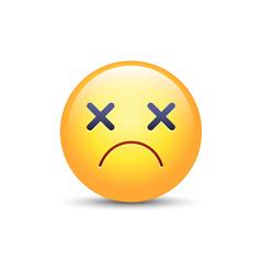 dizzy emoji face cross eyes emoticon icon vector image