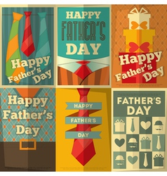 fathers day poster set vector image
