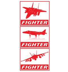 fighter planes vector image