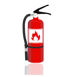 fire extinguisher isolated on white background vector image