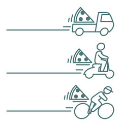 Food delivery icons with blank space vector