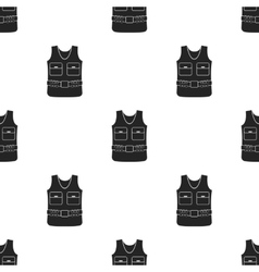 Hunting vest icon in black style isolated on white vector