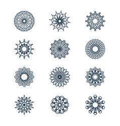 old arabic mandala lace patterns set arabesque vector image vector image