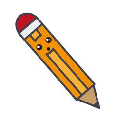pencil utensil ico vector image vector image