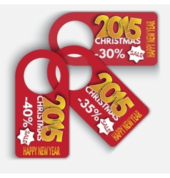 Price Tag Discounts Labels Sale Set Happy New Year vector image