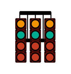 Racer traffic light flat vector