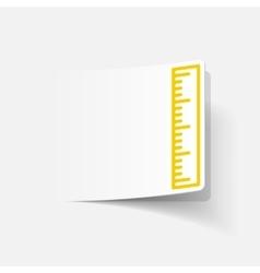 realistic design element ruler vector image vector image