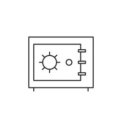 Safe icon outline vector image vector image